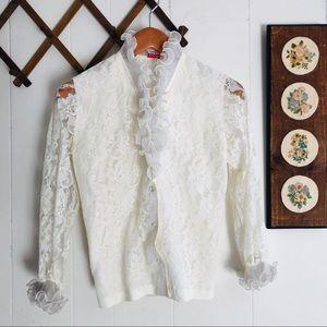 Vtg Victorian Style Lace Blouse